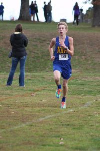 Ava's Caleb Stillings placed first in the district cross country meet at Willow Springs last Saturday