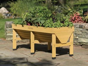 Elevated gardens allow gardeners to easily plant herbs, vegetables and flowers anywhere. (Photo courtesy of Gardener's Supply)