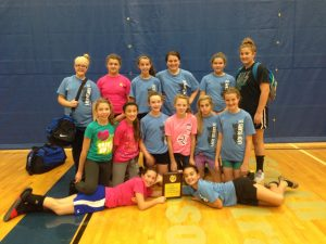 Ava 7th grade took 2nd place in the Cabool Volleyball Tournament on Saturday, Oct. 5. The 7th grade has only lost one game this season and it was to Cabool, who won the tournament. Mtn. Grove took 3rd place in the tournament. Team members are, from left, front row: Kate McDonald, and Kahli Miller. Kneeling: Taylor George, Kenzie Lumley, Macey Phillips, Kiaunna Snow, Ashton Beweley, and Araina Evans. Back row: Megan Goforth, Madison Croney, Gracie Heinlein, Jada Gunter, Haley Hawkins, and Lauren Mendel. Ann Leonard and Janell Stewart coach the Ava 7th grade volleyball team.