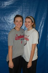 VOLLEYBALL – Receiving all-SCA honorable mention in volleyball this year were seniors Shelby Bushong (left) and Cera Longino.
