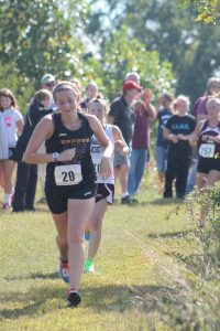 Emily Stillings improved her best time by almost two minutes at the Southern Stampede at Joplin last Saturday
