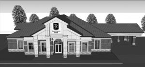 Pictured here is an artist's rendering of Town & Country Bank's new facility. It will be located at the corner of Highway 5 & 14 (across the highway from its current branch) and have more than 7,100 square feet. Retail Manager Betty Ridenour says the bank is pleased to give Ava an attractive new building that visitors will see when they drive into the community.